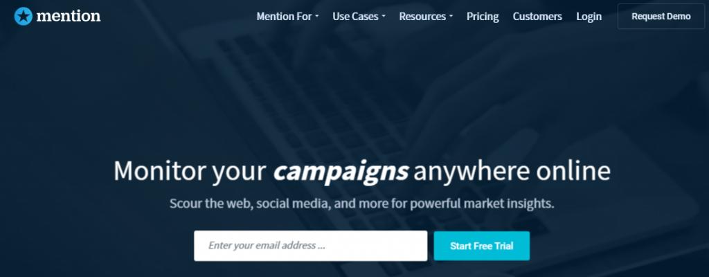 Mention - Top 25 Social Media Monitoring Tools