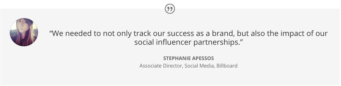 Influencer Tracking - Keyhole - Billboard