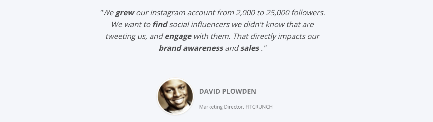 Tracking influencers using Keyhole's dashboard