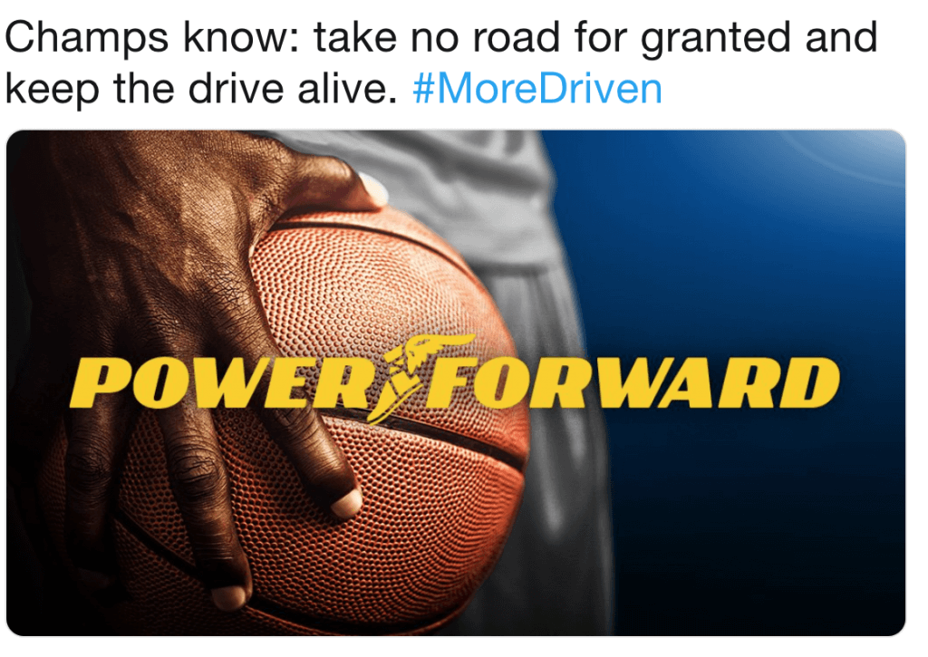 goodyear's more driven hashtag example