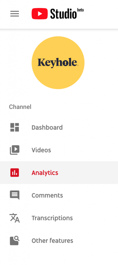 how to access youtube analytics: analytics tab