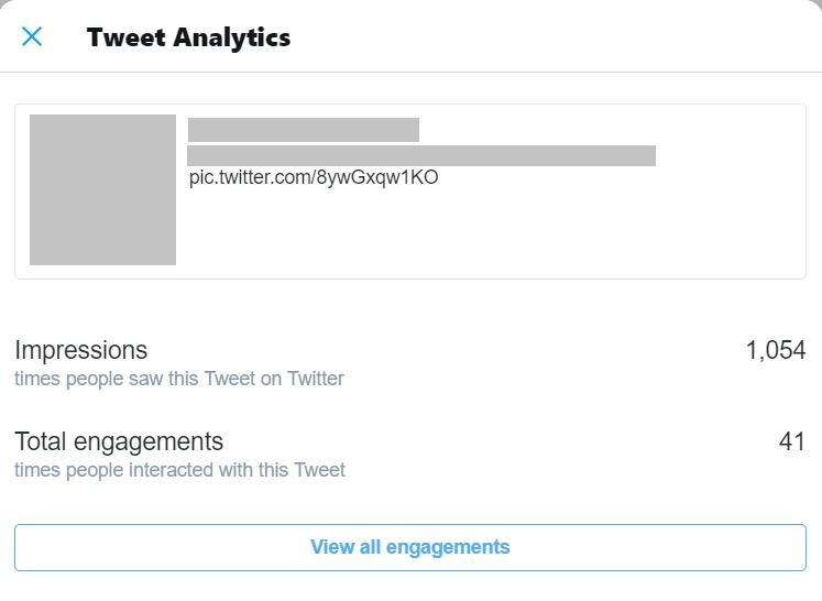 twitter analytics page