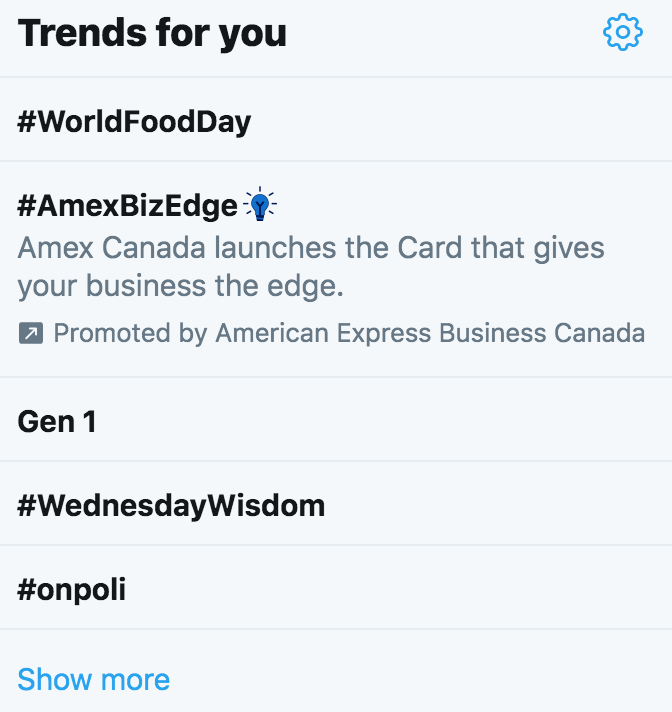 see what's trending on twitter