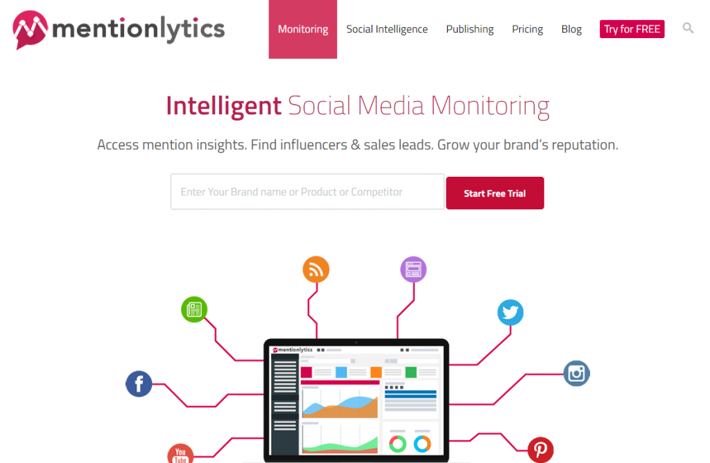 Social Media Tools - Social Listening Tools - Mentionlytics