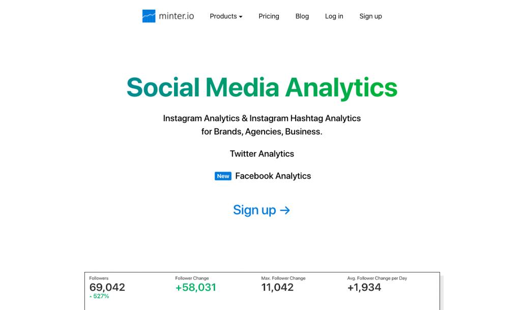 Top Social Media Analytics Tools - Minter.io