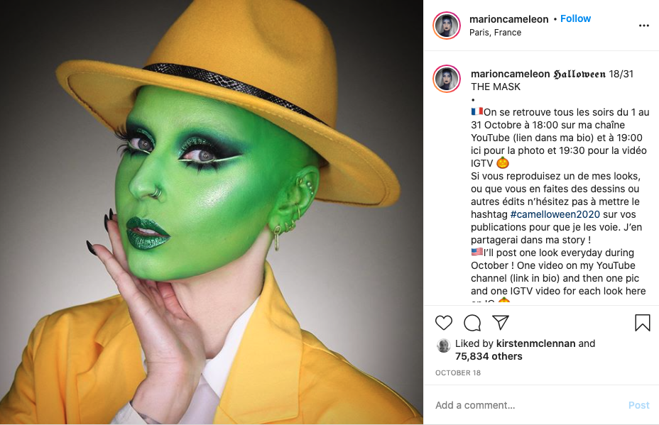 Halloween Makeup social media posts