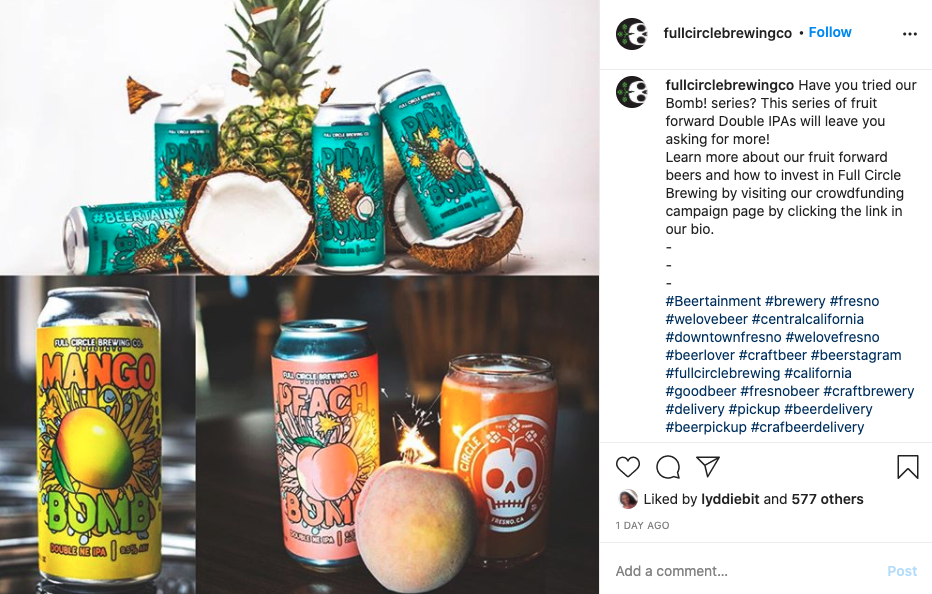 Full Circle Brewing hashtags: Social Media Marketing 101